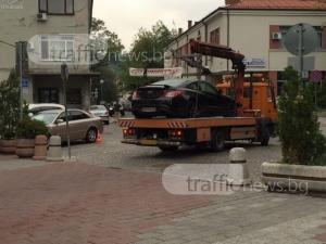 Паяци дебнат за нарушители в центъра на Пловдив СНИМКИ