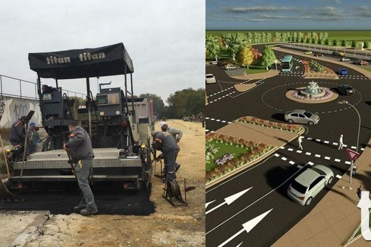 Новата връзка между центъра и Тракия на финала! Полагат асфалта на новия път СНИМКИ