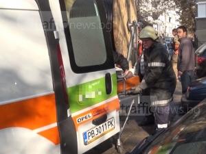 Пожарникарите свалили на ръце пострадалата при пожара в Пловдив, близките са благодарни! ВИДЕО