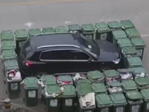 Нагъл шофьор получи китайско наказание ВИДЕО