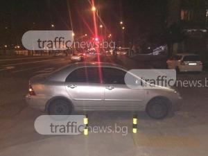 Класика в жанра: Шофьор се маскира като пешеходец и паркира на зебра в Пловдив СНИМКИ