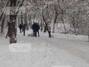 Напук на студа! Десетки с шейни завзеха Младежкия хълм СНИМКИ