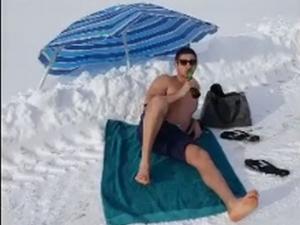 Пълен айляк: На плаж при -16 ВИДЕО