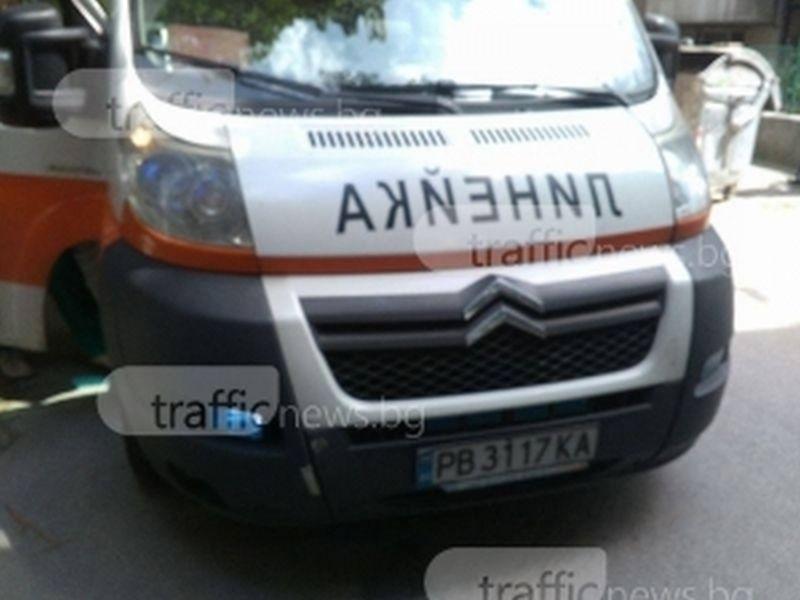 Автобус затисна жена в ограда в Пловдив, състоянието й е тежко