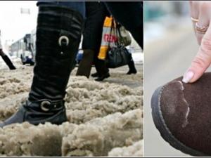 Как да защитим обувките си от солта: много прости начини