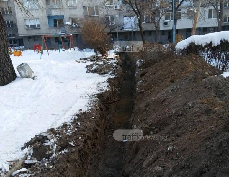 Пловдивски блокове с режим на тока, спешно ги връзват към нов трафопост СНИМКИ