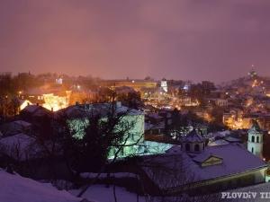 Красива зимна вечер на Небет тепе СНИМКИ
