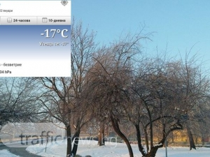 Бррр! Пловдив се скова от студ, минус 17 градуса е СНИМКИ