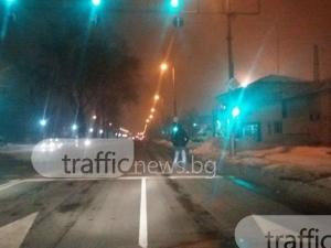 Пиян-залян пловдивчанин изправи косите на шофьори на централен булевард СНИМКИ