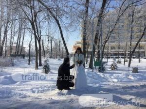 """Снежна сватба като приказка на Гребната! Двама пловдивчани си казаха """"да"""" СНИМКИ"""