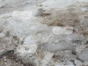 Пловдивчани послушаха съвета на Общината и изринаха леда. Но кой да го вдигне? СНИМКИ