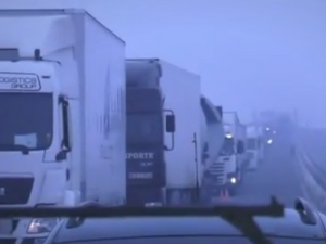 Шофьори обявиха блокада на Дунав мост - 2! Бесни са заради бавното преминаване