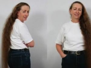 Жена се подстрига за първи път от 23 години с благотворителна цел ВИДЕО