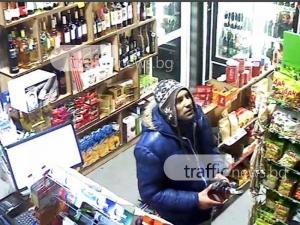 Познавате ли този мъж? Открадна  бутилка скъпо уиски и кутия бонбони от магазин в Пловдив ВИДЕО