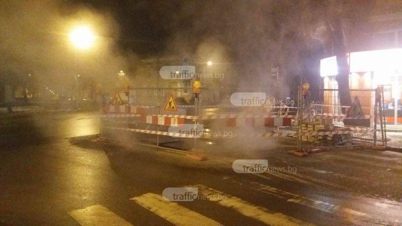 """Голяма авария на булевард """"Руски"""", районът е обвит с пара СНИМКИ"""
