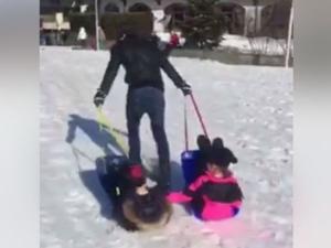Бербатов тренира с децата си на пистата ВИДЕО