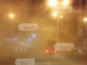 Не, това не е мъгла, а мръсотията по улиците на Пловдив СНИМКИ