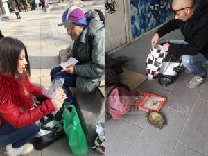 Добри сърца: Младежи от Пловдив протегнаха ръка на хора в нужда СНИМКИ