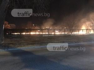 Голям пожар в Кючука, две пожарни гасят огъня СНИМКИ и ВИДЕО