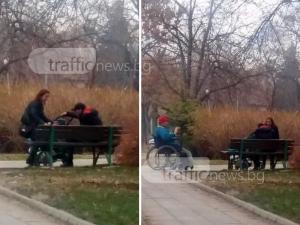 Грозен скандал в Кючука: Пияно семейство се кара в парк, мъжът нападна  инвалид ВИДЕО