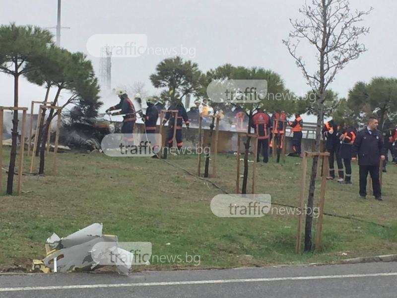 Хеликоптер се разби на метри от пловдивчани в Истанбул ВИДЕО
