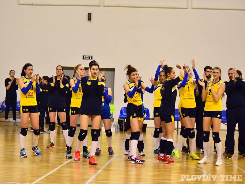 Пловдивчанки изнесоха открит урок по волейбол на софиянки СНИМКИ