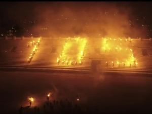 Уникално ВИДЕО от дрон показва празника на стадион Ботев