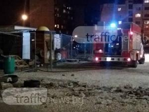 Пожар на пазара в Кючука! Пожарни гасят огъня СНМКИ