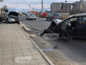 Шофьорът, помлял 2 коли в Труд, бил много пиян СНИМКИ+ВИДЕО
