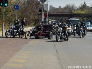 Рокерското шествие в Пловдив от птичи поглед ВИДЕО