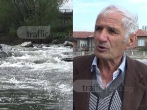 Жител на Катуница: Страх ни е от наводнение! Водата нищо не я спира ВИДЕО