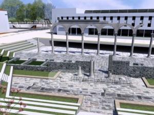 Издигат римски колони в центъра на Пловдив СНИМКИ