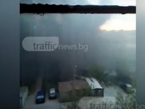 """В """"Изгрев"""" като във военна зона - черен дим задушава хората ВИДЕО"""