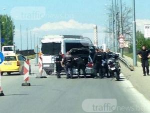Зрелищният арест в Пловдив заради дрогиран шофьор с богато криминално минало СНИМКИ