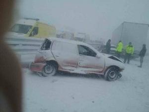 Над 20 ранени при верижна катастрофа в Словакия СНИМКИ