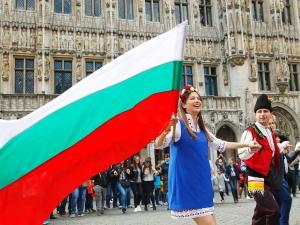 Голямо българско хоро се изви в Брюксел ВИДЕО