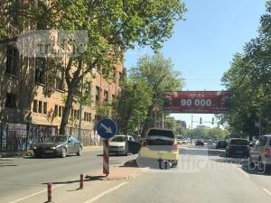 Такси закъса на централен пловдивски булевард СНИМКИ