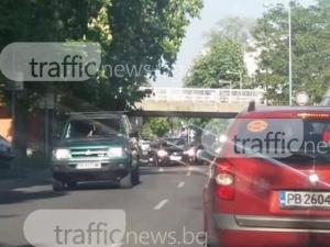 И днес Пловдив се затапи! Автомобилите мърдат на час по лъжичка СНИМКИ