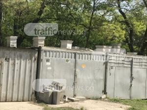 Пловдивчанин изтипоса кошерите си върху... чужди гаражи СНИМКИ