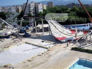 Новата пързалка за 2 милиона в пловдивския Акваленд е почти готова СНИМКИ
