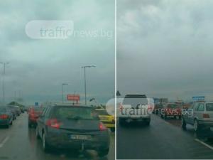 Изнасянето продължава! Зверска тапа запуши пътя Пловдив-Труд СНИМКИ
