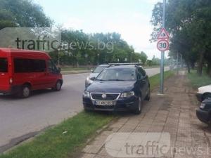 Старозагорец гази пловдивски тротоари и зелени площи СНИМКИ
