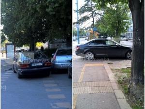 Два мерцедеса превзеха пешеходните пътеки пред II ДКЦ в Пловдив СНИМКИ