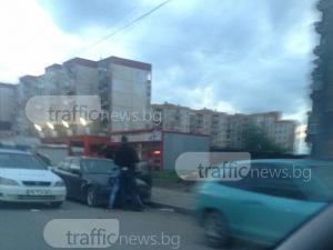 Показен арест в Пловдив! Двама с белезници върху БМВ СНИМКА