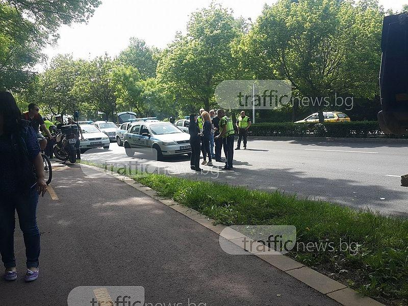 Джип уби полицай в Пловдив СНИМКИ и ВИДЕО
