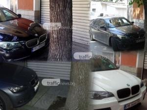 Тротоар в Пловдив стана частен паркинг, и то за BMW-та СНИМКИ