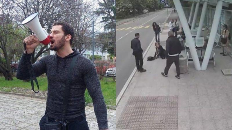 Перата и приятели обградиха блока на мъжа, изритал жена на спирка