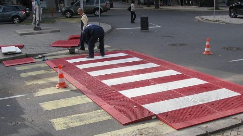 Повдигнати пешеходни пътеки в Пловдив ще се борят с пътни инциденти