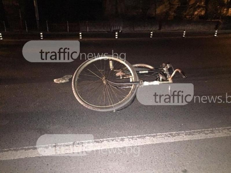 Мерцедес връхлетя колоездач в Кючука, удари го и избяга