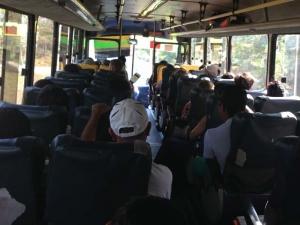 Бандити ограбиха автобус, пълен с полицаи